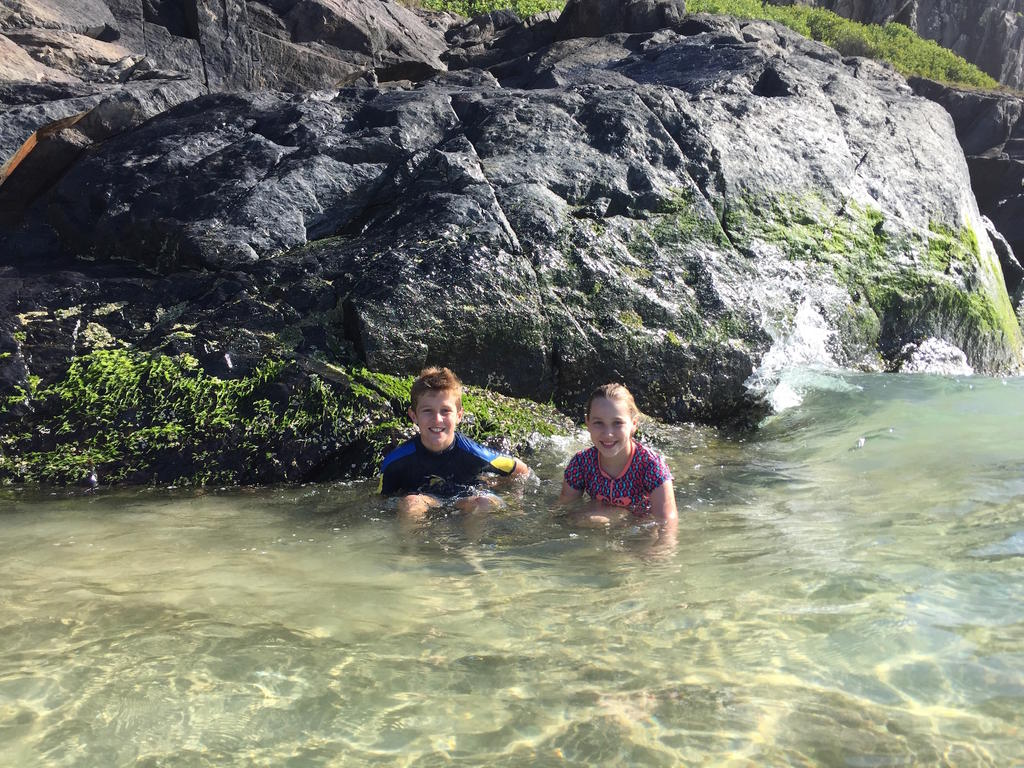 Happy Kids in Clear Water